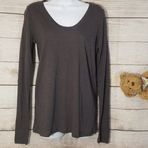 NWOT Susina Long Sleeve Gray Top Size S